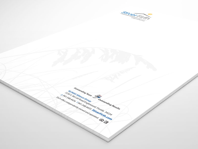 Letterhead layout with both print and digital versions