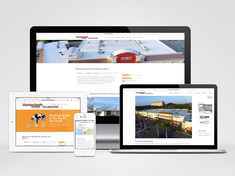 mastercraft roofing responsive website
