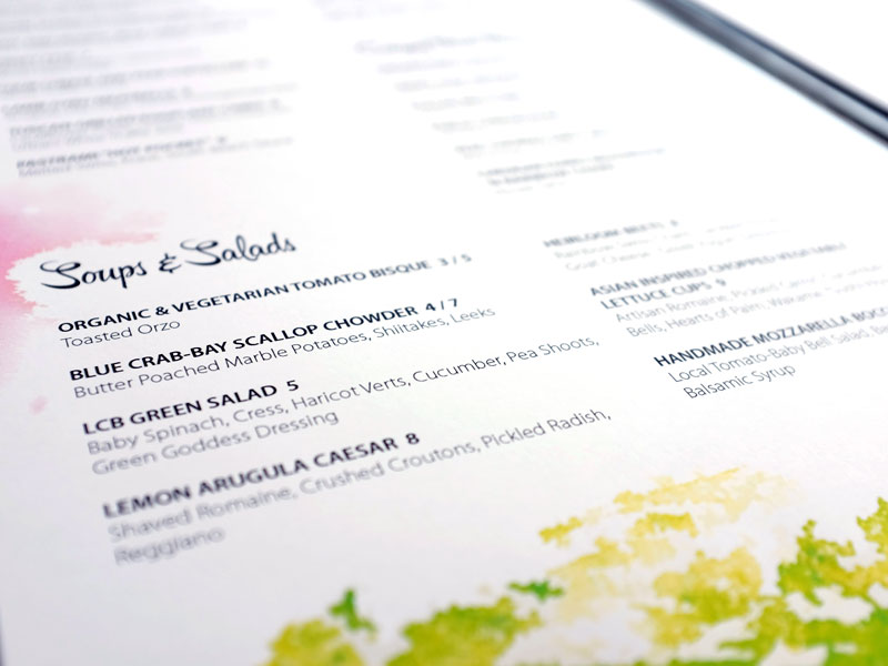 Secrets of menu design